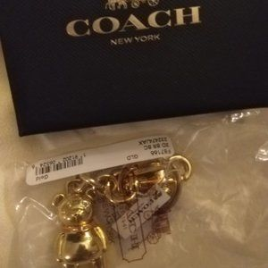 Coach 3D Bear Bag Charm *NWT*